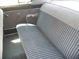 1951 Mercury back seat